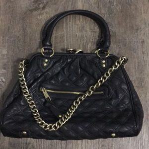 Black Leather CHANEL-like Quilt Purse NEW